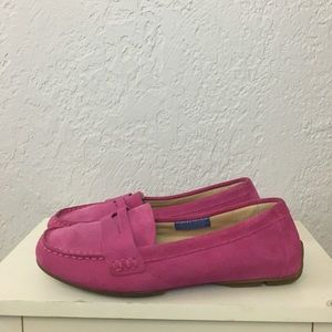 Rockport suede loafer pink moc toe drivers 9W wide